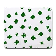 St  Patrick s Clover Pattern Large Mousepads by Valentinaart