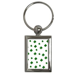 St  Patrick s Clover Pattern Key Chains (rectangle)  by Valentinaart