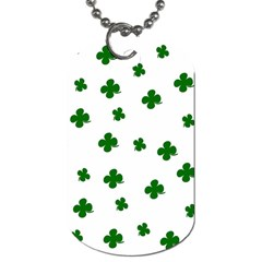 St  Patrick s Clover Pattern Dog Tag (two Sides) by Valentinaart