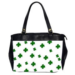 St  Patrick s Clover Pattern Office Handbags (2 Sides)  by Valentinaart
