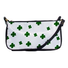 St  Patrick s Clover Pattern Shoulder Clutch Bags by Valentinaart