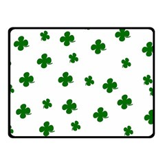 St  Patrick s Clover Pattern Fleece Blanket (small) by Valentinaart