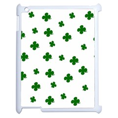 St  Patrick s Clover Pattern Apple Ipad 2 Case (white) by Valentinaart
