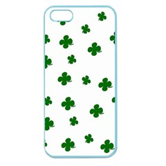 St  Patrick s Clover Pattern Apple Seamless Iphone 5 Case (color) by Valentinaart
