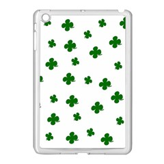 St  Patrick s Clover Pattern Apple Ipad Mini Case (white) by Valentinaart