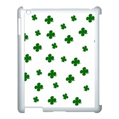St  Patrick s Clover Pattern Apple Ipad 3/4 Case (white) by Valentinaart