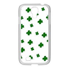 St  Patrick s Clover Pattern Samsung Galaxy S4 I9500/ I9505 Case (white) by Valentinaart
