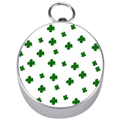 St  Patrick s Clover Pattern Silver Compasses by Valentinaart