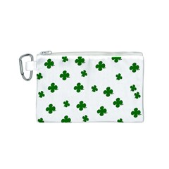 St  Patrick s Clover Pattern Canvas Cosmetic Bag (s) by Valentinaart