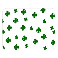 St  Patrick s Clover Pattern Double Sided Flano Blanket (large)  by Valentinaart