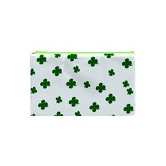 St  Patrick s Clover Pattern Cosmetic Bag (xs) by Valentinaart