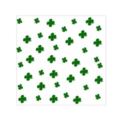 St  Patrick s Clover Pattern Small Satin Scarf (square) by Valentinaart
