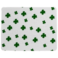 St  Patrick s Clover Pattern Jigsaw Puzzle Photo Stand (rectangular) by Valentinaart