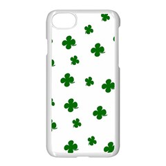 St  Patrick s Clover Pattern Apple Iphone 7 Seamless Case (white) by Valentinaart