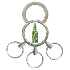 St  Patricks Day   Bottle 3 Ring Key Chains by Valentinaart