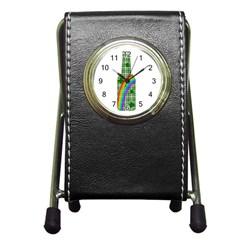 St  Patricks Day   Bottle Pen Holder Desk Clocks by Valentinaart