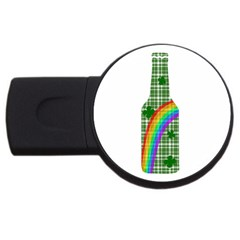 St  Patricks Day   Bottle Usb Flash Drive Round (4 Gb) by Valentinaart