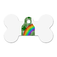 St  Patricks Day   Bottle Dog Tag Bone (two Sides) by Valentinaart