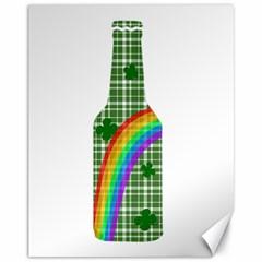 St  Patricks Day   Bottle Canvas 11  X 14   by Valentinaart
