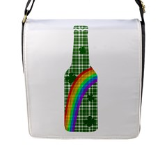 St  Patricks Day   Bottle Flap Messenger Bag (l)  by Valentinaart