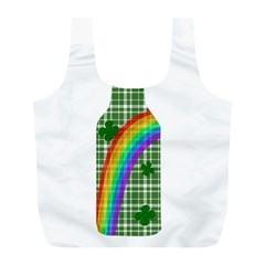 St  Patricks Day   Bottle Full Print Recycle Bags (l)  by Valentinaart