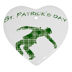 St  Patrick s Day Ornament (heart) by Valentinaart