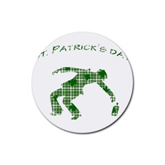St  Patrick s Day Rubber Round Coaster (4 Pack)  by Valentinaart