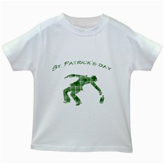 St  Patrick s Day Kids White T Shirts by Valentinaart