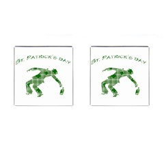 St  Patrick s Day Cufflinks (square) by Valentinaart