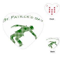 St  Patrick s Day Playing Cards (heart)  by Valentinaart