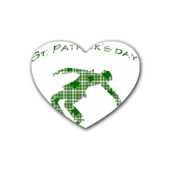 St  Patrick s Day Heart Coaster (4 Pack)  by Valentinaart