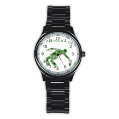 St  Patrick s Day Stainless Steel Round Watch