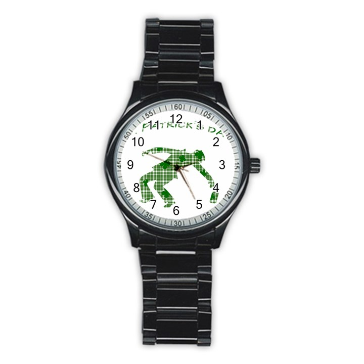 St. Patrick s day Stainless Steel Round Watch
