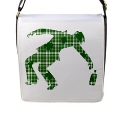 St  Patrick s Day Flap Messenger Bag (l)  by Valentinaart