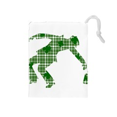 St  Patrick s Day Drawstring Pouches (medium)  by Valentinaart