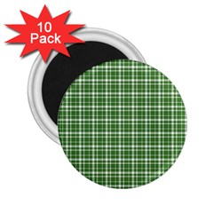 St  Patricks Day Plaid Pattern 2 25  Magnets (10 Pack)  by Valentinaart