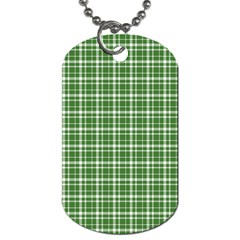 St  Patricks Day Plaid Pattern Dog Tag (two Sides) by Valentinaart