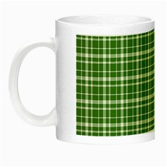 St  Patricks Day Plaid Pattern Night Luminous Mugs by Valentinaart