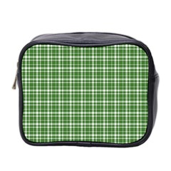 St  Patricks Day Plaid Pattern Mini Toiletries Bag 2 Side by Valentinaart