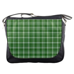 St  Patricks Day Plaid Pattern Messenger Bags by Valentinaart