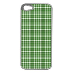 St  Patricks Day Plaid Pattern Apple Iphone 5 Case (silver) by Valentinaart