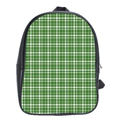 St  Patricks Day Plaid Pattern School Bags (xl)  by Valentinaart