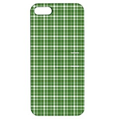 St  Patricks Day Plaid Pattern Apple Iphone 5 Hardshell Case With Stand by Valentinaart