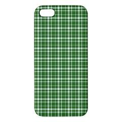 St  Patricks Day Plaid Pattern Apple Iphone 5 Premium Hardshell Case by Valentinaart