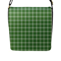 St  Patricks Day Plaid Pattern Flap Messenger Bag (l)  by Valentinaart