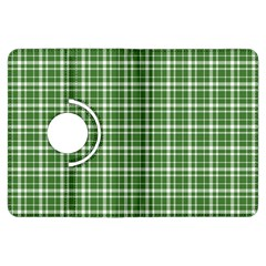 St  Patricks Day Plaid Pattern Kindle Fire Hdx Flip 360 Case by Valentinaart
