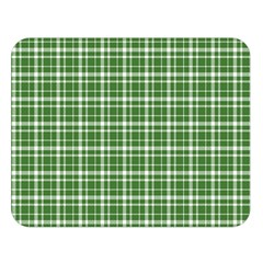 St  Patricks Day Plaid Pattern Double Sided Flano Blanket (large)  by Valentinaart
