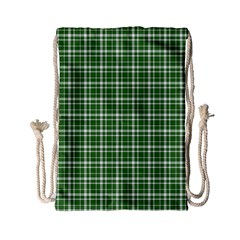 St  Patricks Day Plaid Pattern Drawstring Bag (small) by Valentinaart