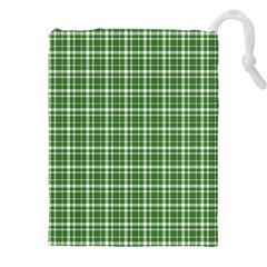 St  Patricks Day Plaid Pattern Drawstring Pouches (xxl) by Valentinaart