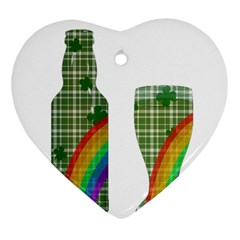 St  Patrick s Day Heart Ornament (two Sides) by Valentinaart
